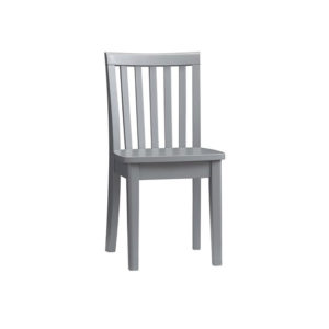 Chair - Gray Solid Wood