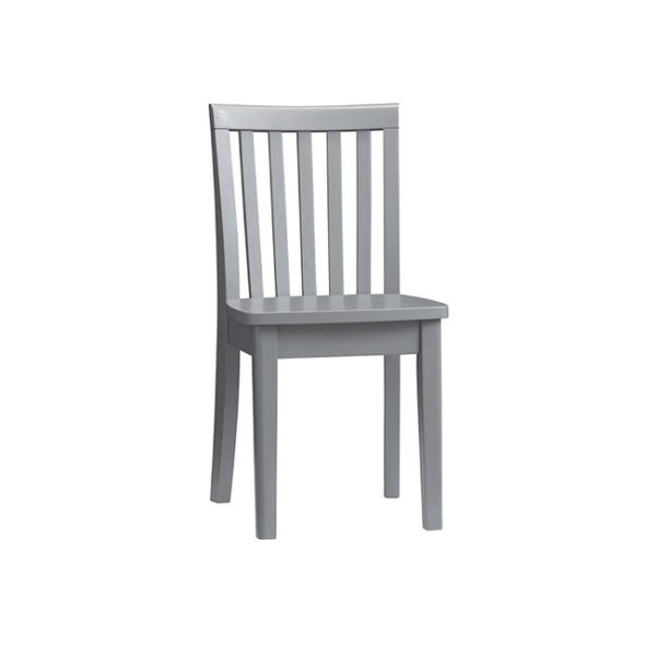 Chair-Gray-Solid-Wood
