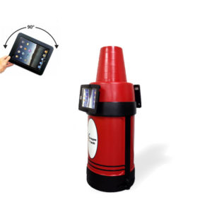 iPad Kiosk Holder (2) 180 Opposite Red