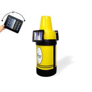 iPad Kiosk Holder (2) 180 Opposite Yellow
