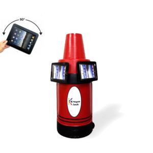 iPad Kiosk Holder (2) Side by Side Red