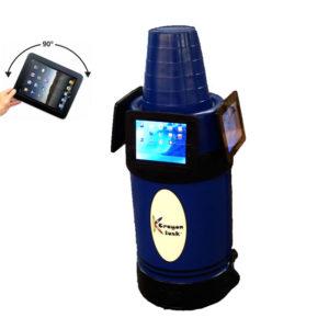 iPad Kiosk Holder (3) Blue
