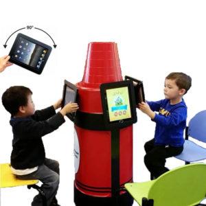 iPad Kiosk Holder (3) Red