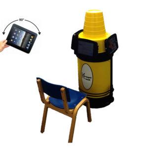 iPad Kiosk Holder (3) Yellow