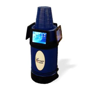 iPad Kiosk Holder (4) Blue