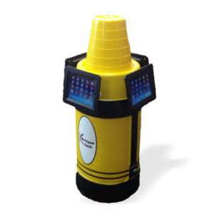 iPad Kiosk Holder (4) Yellow