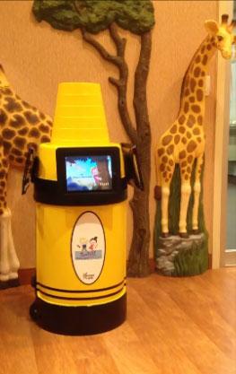 krayon kiosk at pediatric dentist