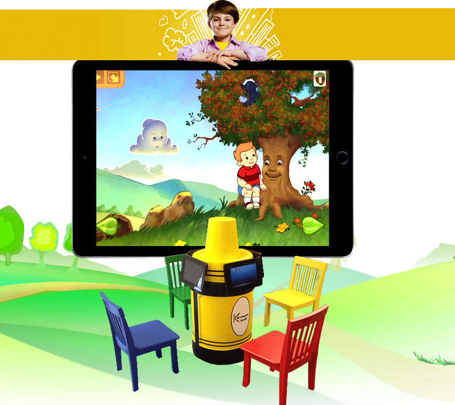 Krayon Kiosk is the best educational iPad / tablet stand